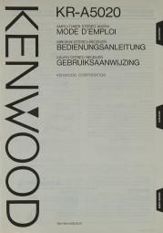 Kenwood KR-A 5020 Bedienungsanleitung