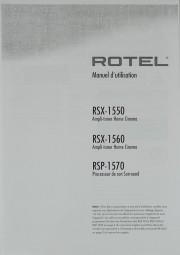 Rotel RSX-1550 / RSX-1560 / RSP-1570 Bedienungsanleitung