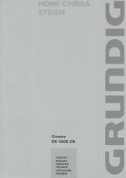 Grundig Cinemo DR 4500 DD Bedienungsanleitung