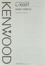 Kenwood L-1000 T Bedienungsanleitung