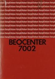 B & O Beocenter 7002 Bedienungsanleitung