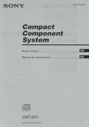 Sony CMT-EX 1 Bedienungsanleitung