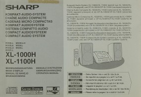 Sharp XL-1000 H / XL-1100 H Bedienungsanleitung