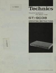 Technics ST-9038 Bedienungsanleitung
