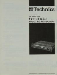 Technics ST-9030 Bedienungsanleitung