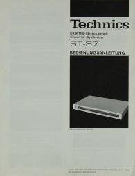 Technics ST-S 7 Bedienungsanleitung