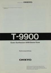 Onkyo T-9900 Bedienungsanleitung