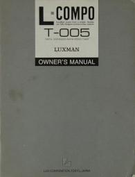 Luxman T-005 Bedienungsanleitung