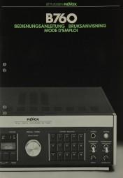 Revox B 760 Bedienungsanleitung