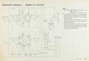 Technics SU-300 MC Schaltplan / Serviceunterlagen