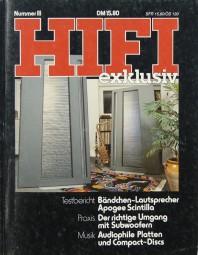 Hifi Exklusiv Nummer III Zeitschrift