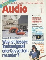 Audio 1/1981 Zeitschrift