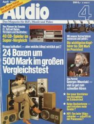 Audio 4/1984 Zeitschrift