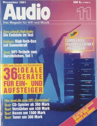 Audio 11/1991 Zeitschrift
