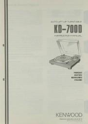 Kenwood KD-700 D Bedienungsanleitung