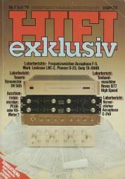 Hifi Exklusiv 7/1979 Zeitschrift