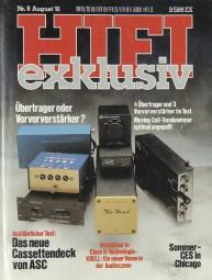Hifi Exklusiv 8/1981 Zeitschrift