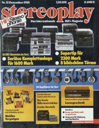 Stereoplay 12/1985 Zeitschrift