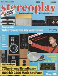 Stereoplay 2/1988 Zeitschrift