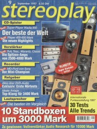 Stereoplay 9/1997 Zeitschrift
