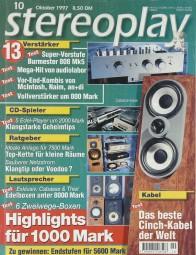 Stereoplay 10/1997 Zeitschrift
