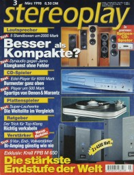 Stereoplay 3/1998 Zeitschrift