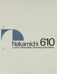 Nakamichi 610 Bedienungsanleitung