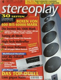 Stereoplay 4/1999 Zeitschrift