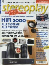 Stereoplay 9/1999 Zeitschrift
