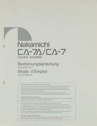 Nakamichi CA-7 A / CA-7 Bedienungsanleitung