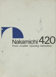 Nakamichi 420 Bedienungsanleitung