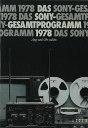 Sony Gesamtprogramm 1978 Prospekt / Katalog