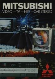 Mitsubishi Video - TV - Hifi - Car Stereo Prospekt / Katalog