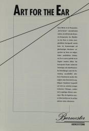 Burmester Art for the Ear - Audiosysteme Prospekt / Katalog
