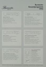 Burmester Gesamtprogramm 1995 Prospekt / Katalog