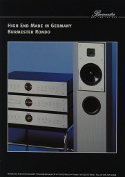 Burmester Rondo Prospekt / Katalog