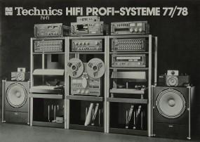 Technics Hifi Profi-Systeme 77/78 Prospekt / Katalog
