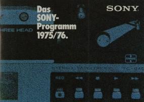 Sony Programm 1975/76 Prospekt / Katalog