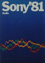 Sony Sony ´81 Audio Prospekt / Katalog