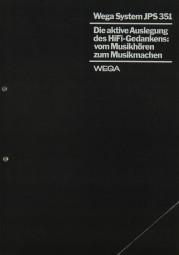 Wega Wega System JPS 351 Prospekt / Katalog