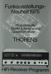 Thorens Funkausstellungs-Neuheit 1975 Prospekt / Katalog