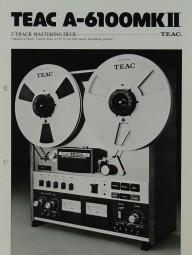 Teac A-6100 MK II Prospekt / Katalog