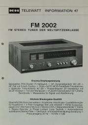 K + H FM 2002 Prospekt / Katalog