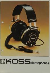 Koss Stereophones Prospekt / Katalog