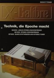 X-Calibre / Benytone MA 4000 / MC 4000 / MT 4000 Prospekt / Katalog