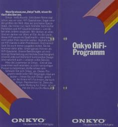 Onkyo Hifi Programm Prospekt / Katalog