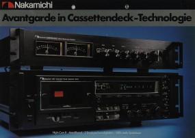 Nakamichi Avantgarde in Cassettendeck-Technologie Prospekt / Katalog