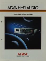 Aiwa Hifi Audio - Cassettengeräte / Plattenspieler Prospekt / Katalog