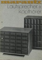 Marantz Lautsprecher + Kopfhörer Prospekt / Katalog