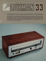 Luxman T-33 Prospekt / Katalog